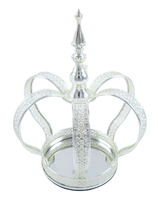 Emperor Crown Centerpiece, 11in, Silver