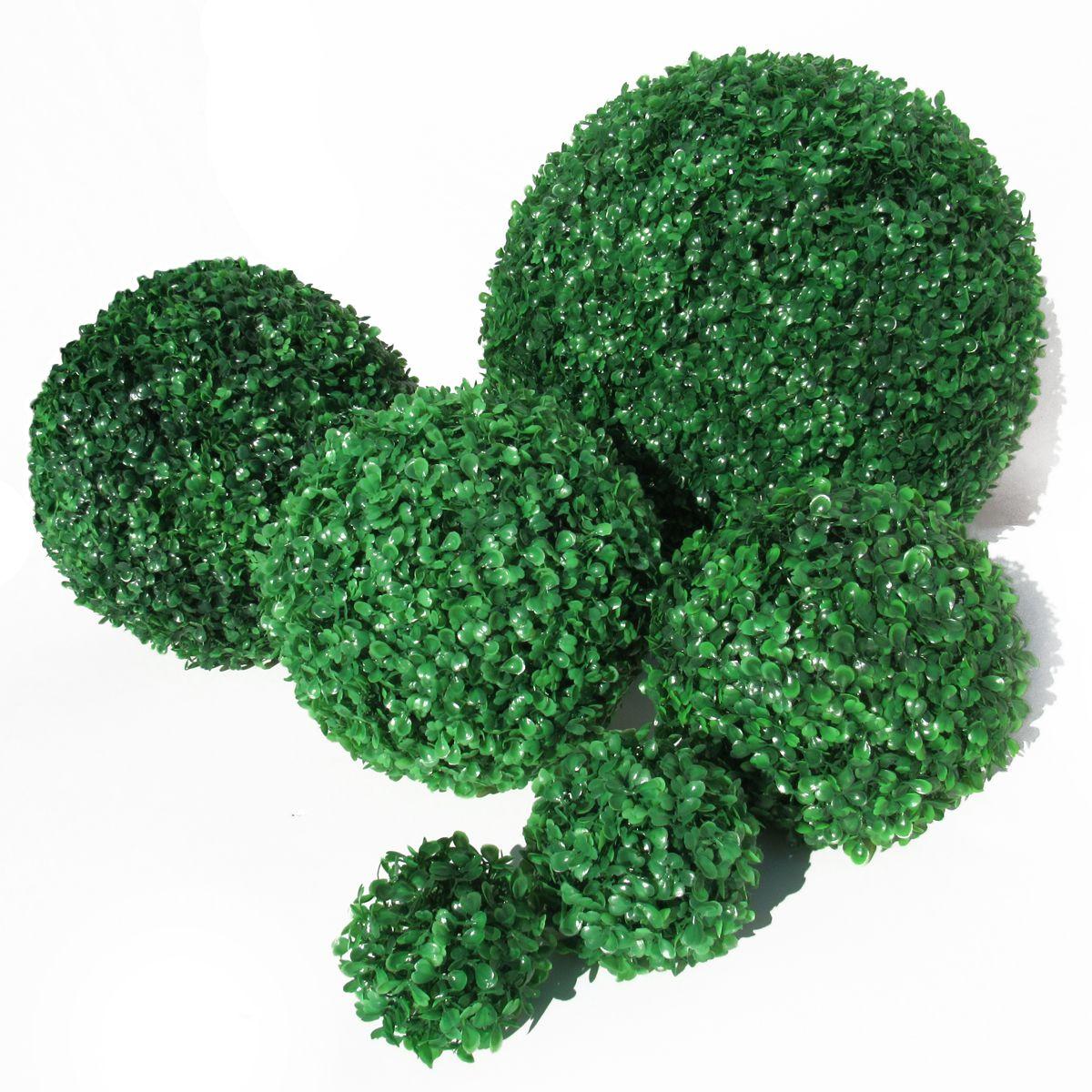 Boxwood Topiary Greenery Ball, 10in, Green