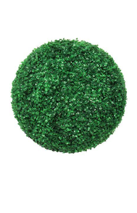 Boxwood Topiary Greenery Ball, 18in, Green