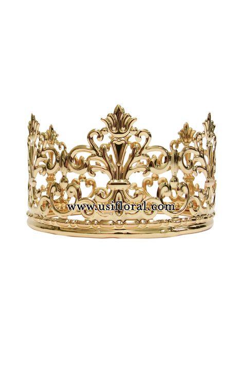 Mini Metal Crown, 4in, Gold
